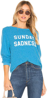 Wildfox Couture Sunday Sadness Baggy Beach Sweatshirt