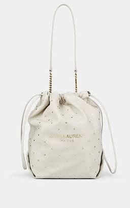 Saint Laurent Women's Teddy Sac Star-Print Leather Bucket Bag - White