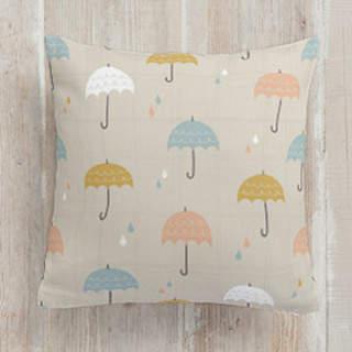 Umbrellas Square Pillow