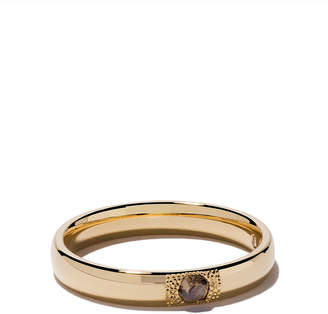 De Beers 18kt yellow gold Talisman You & Me diamond 3mm band