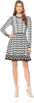 Eliza J Women's Long Sleeve Sweater Dress, L