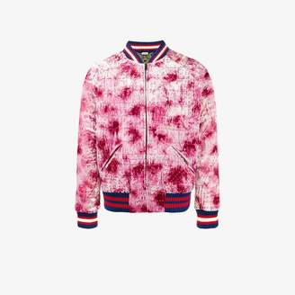 Gucci dragon Appliqued Bomber Jacket