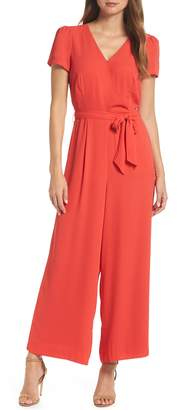 J.Crew Short Sleeve Wrap Jumpsuit