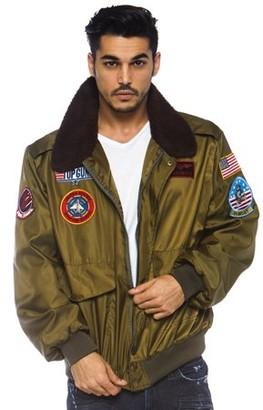 Leg Avenue Men's Top Gun Licensed Bomber Jacket, Khaki, X-Large
