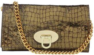 Mulberry Gold Crocodile Clutch Bag