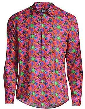 Vilebrequin Men's Slim-Fit Floral Woven Shirt