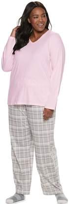Croft & Barrow Plus Size Tee, Pants & Socks Pajama Set