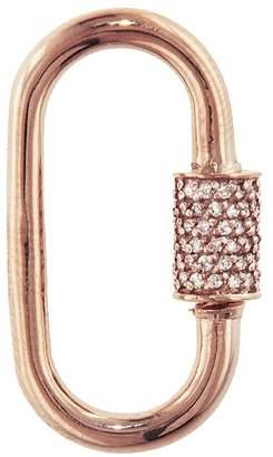 Marla Aaron Medium Stoned Diamond Lock - Rose Gold