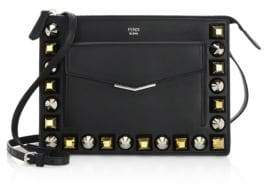 Fendi Studded Leather Crossbody Bag
