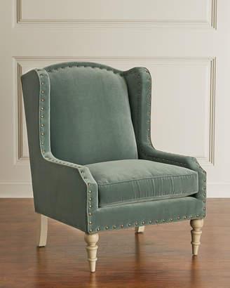 Randall Velvet Wing Chair