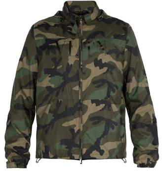 Valentino Camouflage Print Windbreaker Jacket - Mens - Green