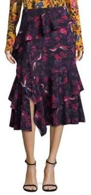 Tanya Taylor Aurelia Kimono Floral Skirt