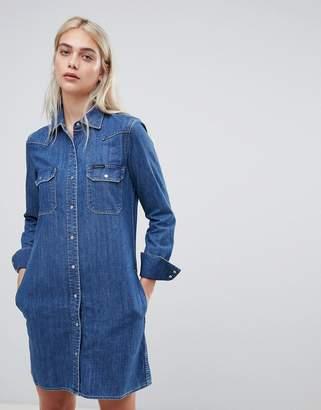 Calvin Klein Christiane western denim shirt dress