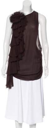 Thomas Wylde Silk Asymmetrical Top