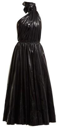 Calvin Klein Tie Neck Nylon A Line Dress - Womens - Black
