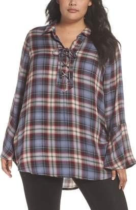 Seven7 Lace-Up Tunic