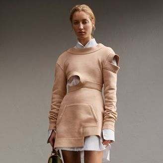 Burberry Brushed-back Jersey Cut-out Sweatshirt Dress $1,495 thestylecure.com