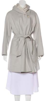 Max Mara Wool & Angora-Blend Trench Coat