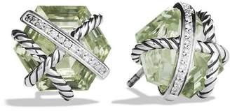 David Yurman Cable Wrap Earrings with Prasiolite and Diamonds