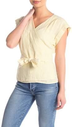 Frame Wrap Sleeveless Linen Top