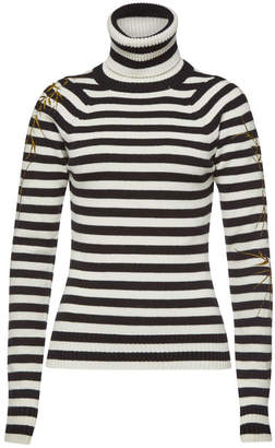 Haider Ackermann Striped Turtleneck Pullover with Wool and Cashmere