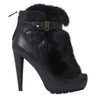 Burak Uyan Black Leather Boots