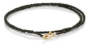 Luis Morais Men's Beaded Double-Wrap Bracelet-Green