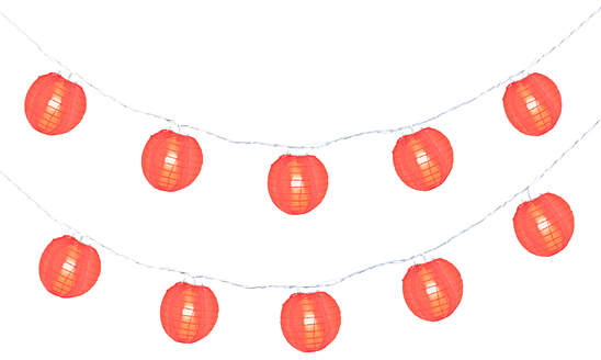 Small Red Party Lantern String Lights