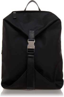 Prada Black Nylon Backpack With Buckle Closure
