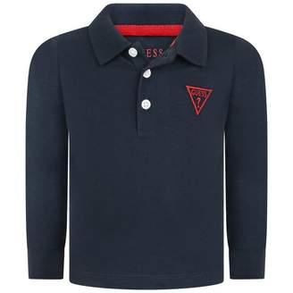 GUESS Boys Navy Polo Shirt