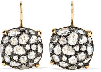 Fred Leighton - Collection 18-karat Gold, Sterling Silver And Diamond Earrings