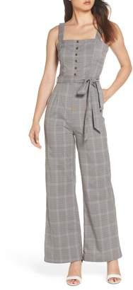 Heartloom Allie Sleeveless Plaid Jumpsuit
