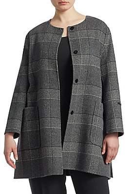 Marina Rinaldi Marina Rinaldi, Plus Size Marina Rinaldi, Plus Size Women's Notte Wool Plaid Coat