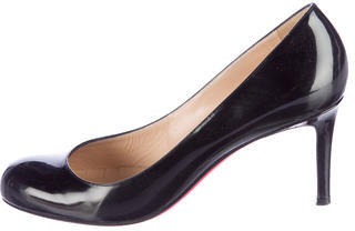 Christian Louboutin Patent Leather Simple Pumps $345 thestylecure.com