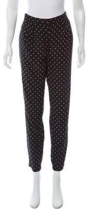 Tibi Printed High-Rise Skinny Pants