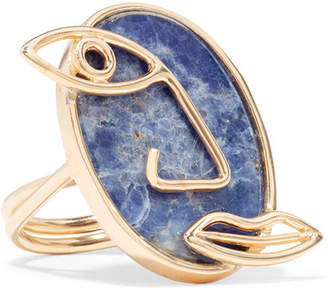 Paola Vilas - Pablo Gold-plated Sodalite Ring - Blue