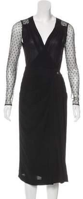 Tory Burch Swiss Dot Crepe Dress