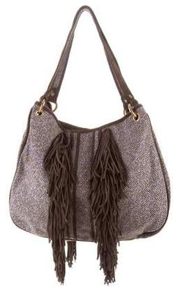 Tory Burch Suede-Accented Shoulder Bag