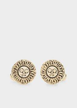 Paul Smith Men's Gold Sun Cufflinks
