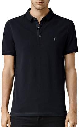 ALLSAINTS Reform Slim Fit Polo Shirt $100 thestylecure.com