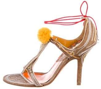Christian Dior Suede Wrap Around Sandals