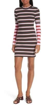 Cinq à Sept Zaria Layered Stripe Body-Con Dress