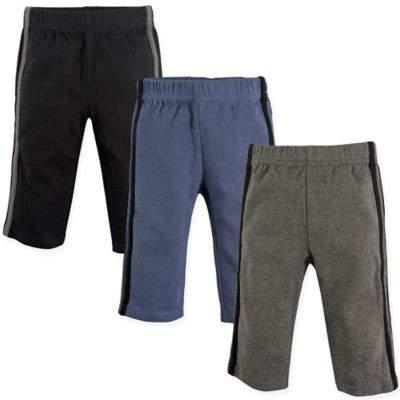 3-Pack Athletic Pants in Black