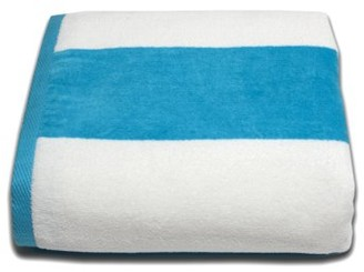 Lintex Linens Tropical Cabana 100% Cotton Velour Wide Stripe Beach Towel
