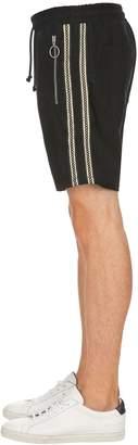 Gold Stripe Sweat Shorts