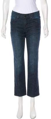 Paper Denim & Cloth Mid-Rise Straight-Leg Jeans