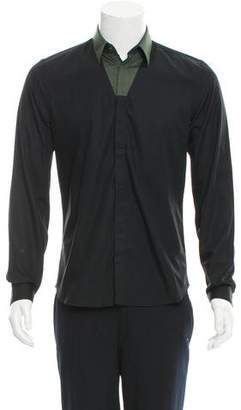 Thierry Mugler Colorblock Button-Up Shirt w/ Tags