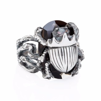 Yasmin Everley Jewellery Little Scarab Cocktail Ring