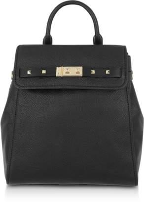 Michael Kors Black Pebbled Leather Addison Backpack