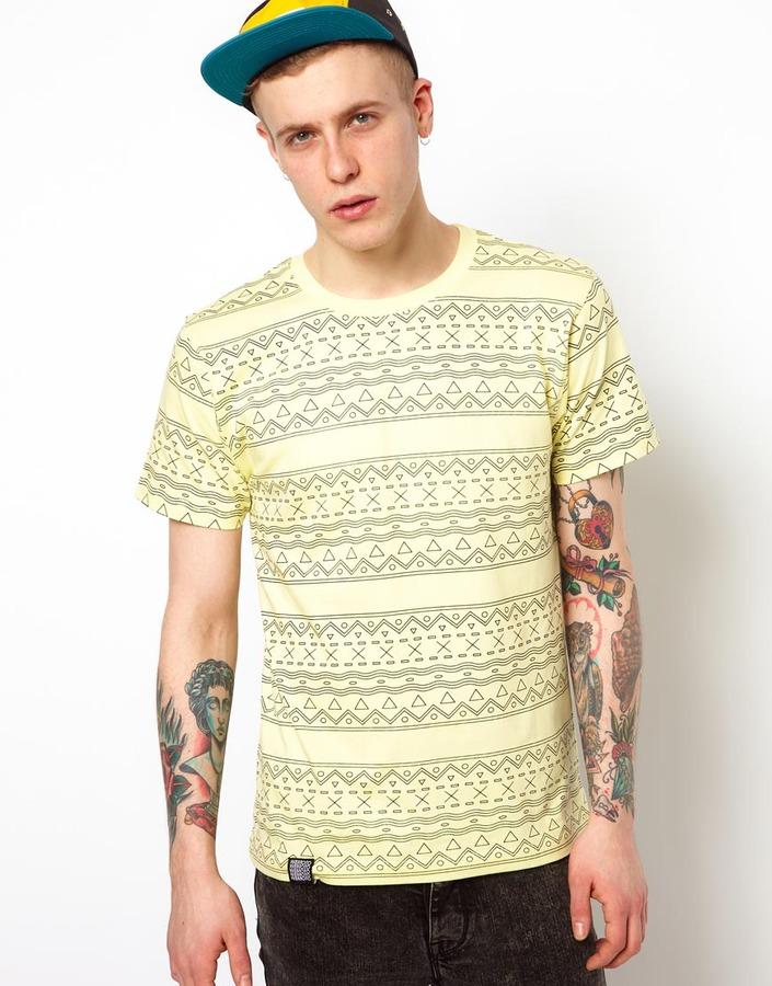 Wemoto T-Shirt with Geo-Tribal Beach Print
